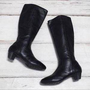 Camper Boots Tall Heeled Black Leather Zip 10
